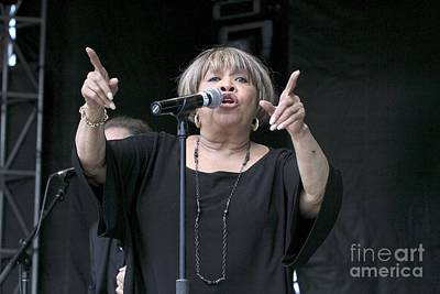 Singer Mavis Staples Print by Concert Photos