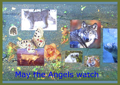 Mixed Media - May The Angels Watch by Mary Ann  Leitch