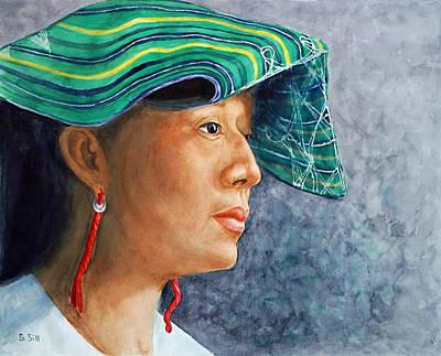 Mayan Painting - Mayan Princess In Green by Sue Sill