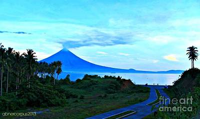 Mayon Volcano Photograph - A Blue Hour... by Abner Corpus