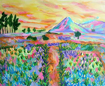Mayon Volcano Painting - Mayon Volcano by Mataji Villareal - Sharma