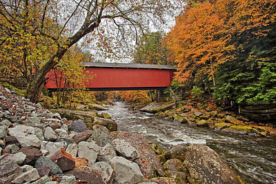 Mill Photograph - Mcconnells Covered  Bridge by Marcia Colelli