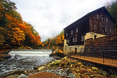 Fall Photograph - Mcconnells Mill  by Marcia Colelli