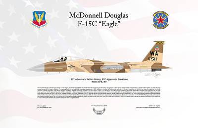 F-15c Eagle Digital Art - Mcdonnell Douglas F-15c Eagle by Arthur Eggers