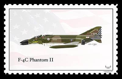 F-4c Digital Art - Mcdonnell Douglas F-4c Phantom II by Arthur Eggers