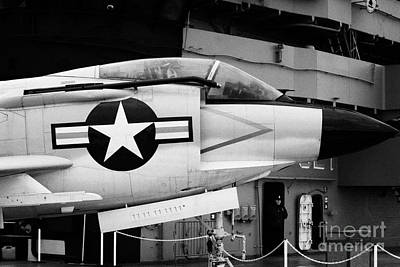 Mcdonnell F3h2n F3b F3 Demon On The Flight Deck On Display At The Intrepid Sea Air Space Museum Art Print by Joe Fox