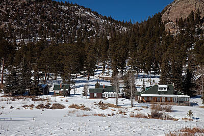 Photograph - Mcgraw Ranch House In Winter by Fred Stearns