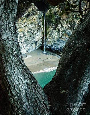 Waves Photograph - Mcway Falls-big Sur by David Millenheft