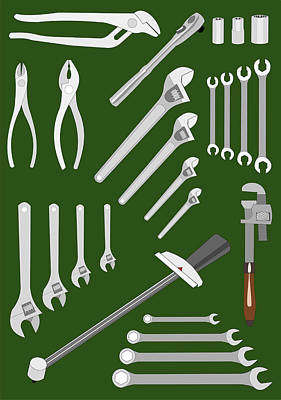 Digital Art - Mechanic's Tools by John Orsbun