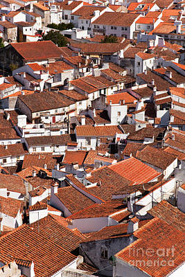 Red Roofs Photograph - Medieval Town Rooftops by Jose Elias - Sofia Pereira