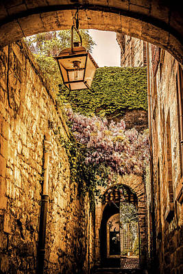 Medieval Village In The South Of France Art Print by Catherine Arnas