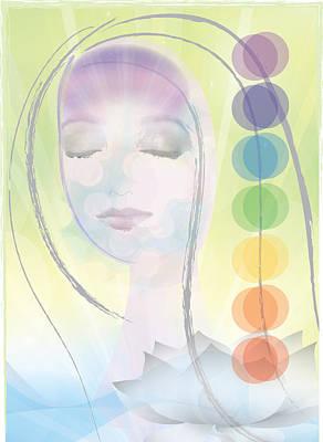 Inner Thoughts Digital Art - Meditation by Lisa Henderling