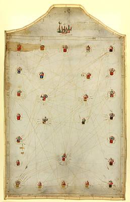 Mediterraneo E Europa   E Fet Mi Arnaldo Domenech Disipulo Petri Rosell Anno Dnj 1484 Art Print by MotionAge Designs