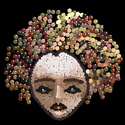Digital Art - Medusa Bedazzled After by R  Allen Swezey