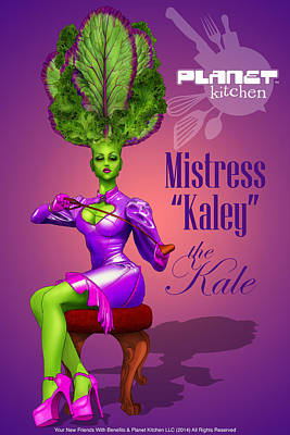 Vegetable Market Drawing - Meet Mistress Kale by YNFWB Your new friends with BENEFITS