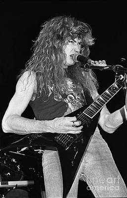 Dave Mustaine Photograph - Megadeth by Concert Photos