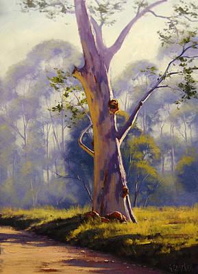 River Gums Painting - Megalong Gum by Graham Gercken