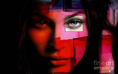 Megan Fox Mixed Media - Megan Fox by Marvin Blaine