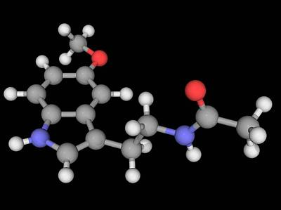 Melatonin Molecule Art Print by Laguna Design/science Photo Library