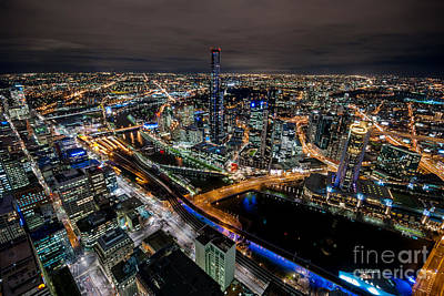 Photograph - Melbourne At Night Vi by Ray Warren