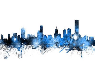 Melbourne Australia Skyline Art Print