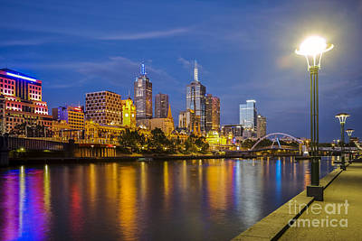 Photograph - Melbourne Skyline At Twilight by Colin and Linda McKie