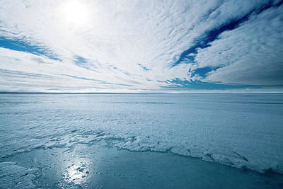 Melting Arctic Sea Ice Art Print by Louise Murray/science Photo Library