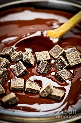 Stir Photograph - Melting Chocolate by Elena Elisseeva