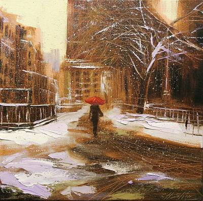 Painting - Melting Snow by Chin H  Shin