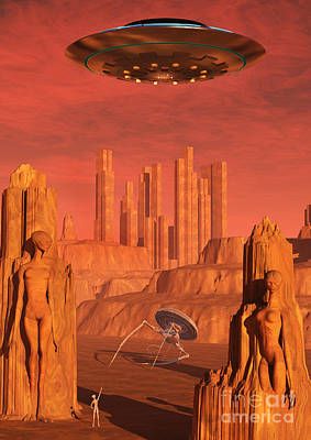 Ancient Civilization Digital Art - Members Of The Planets Advanced by Mark Stevenson