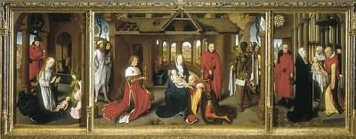 Sacred Feminine Art Photograph - Memling, Hans 1433-1494. Triptych by Everett