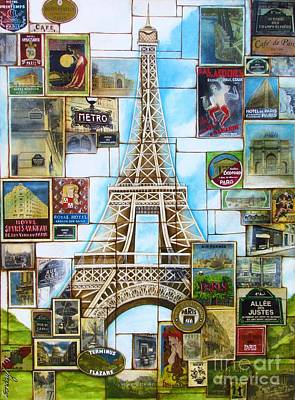 Painting - Memories Of Paris by Joseph Sonday