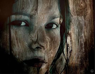 Face Digital Art - Memory Etched In Wood by Gun Legler