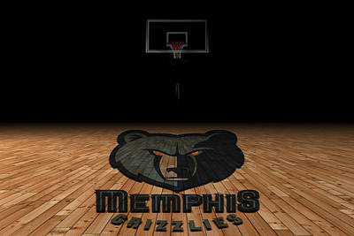 Memphis Grizzlies Art Print by Joe Hamilton