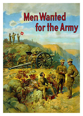 Men Wanted For The Army Art Print by War Is Hell Store