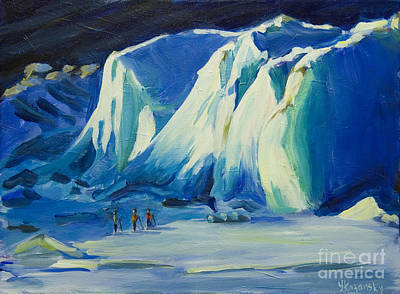 Painting - Mendenhall Glacier Alaska by Yulia Kazansky
