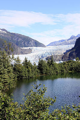 Photograph - Mendenhall Glacier by Gladys Turner Scheytt