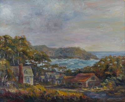 Painting - Mendocino Evening by Edward White