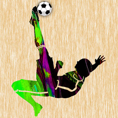 Mixed Media - Mens Soccer by Marvin Blaine