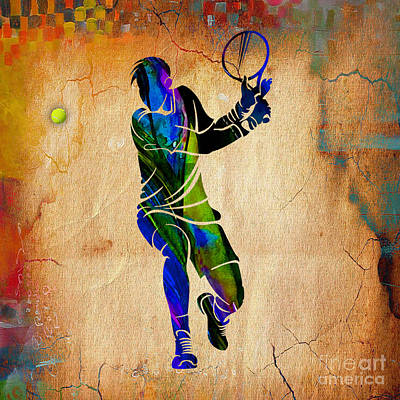 Tennis Mixed Media - Mens Tennis by Marvin Blaine