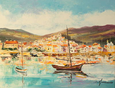 Painting - Mentone Harbour by Luke Karcz