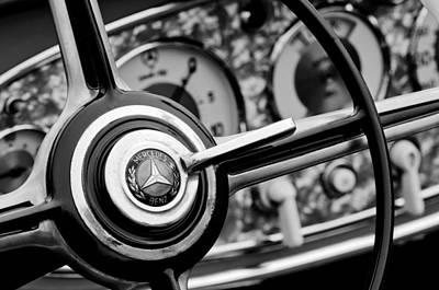 Photograph - Mercedes-benz Steering Wheel Emblem by Jill Reger