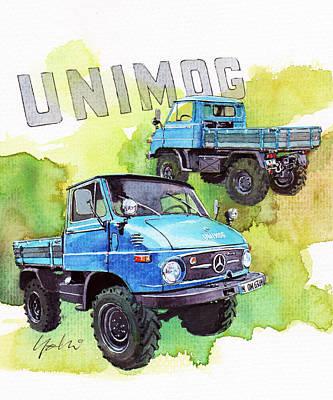 Purpose Painting - Mercedes Unimog by Yoshiharu Miyakawa