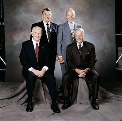 Group Portraits Photograph - Mercury Seven Astronauts by Nasa