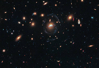 Merging Photograph - Merging Galaxies by Science Source