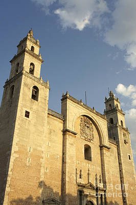 Photograph - Merida Cathedral Mexico by John  Mitchell
