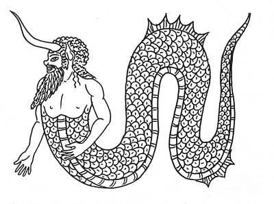 Merman, Legendary Creature Art Print by Photo Researchers