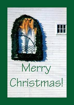 Jerry Sodorff Royalty-Free and Rights-Managed Images - Merry Christmas Barn 1191 by Jerry Sodorff