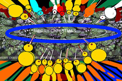 Digital Art - Merry Christmas-d9 by Anand Swaroop Manchiraju