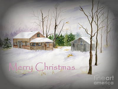 Painting - Merry Christmas by Melly Terpening